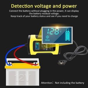Image 3 - 全自動カーモトバッテリ充電器 110 に 220 に 12V 6A 液晶スマート高速パワー充電オート湿式ドライ鉛 Ac