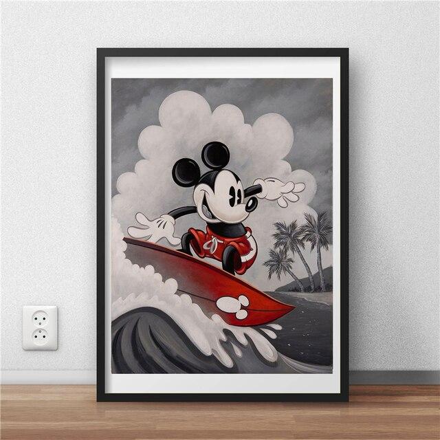 Микки Маус миккахуна стены искусства холст постер и принт холст живопись, декоративная картина для офиса спальни домашний декор, произведение искусства