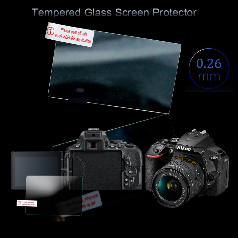 LCD Tempered Glass Screen Protector For Nikon D5300 D5500 D5600 Special Screen 3 inch Camera Toughened Glass Protective Film