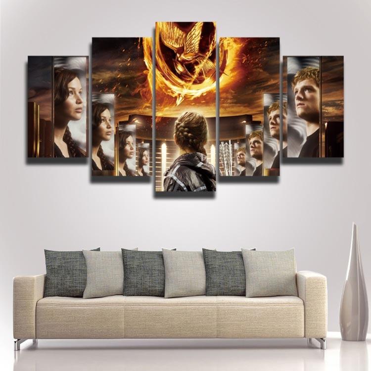 Gedrucktes cooles Filmplakat The Hunger Games Bild Sprühmalerei 5 - Wohnkultur - Foto 2