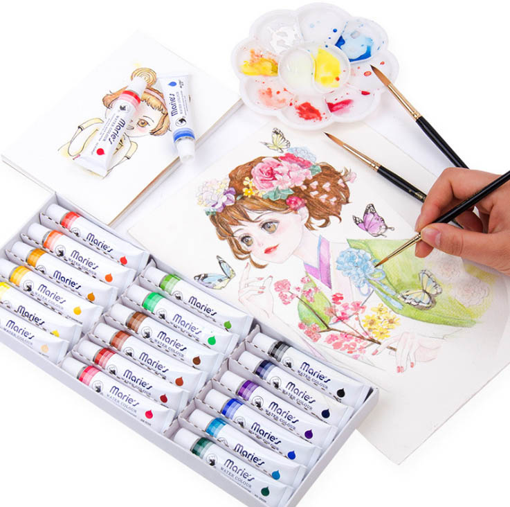 12/24/36 Colors 12ml High Quality Watercolor Painting Set Professional Drawing Pigment For Art Supplies
