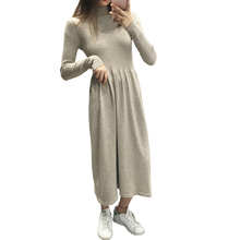вязанный водолазка, свитер, женский