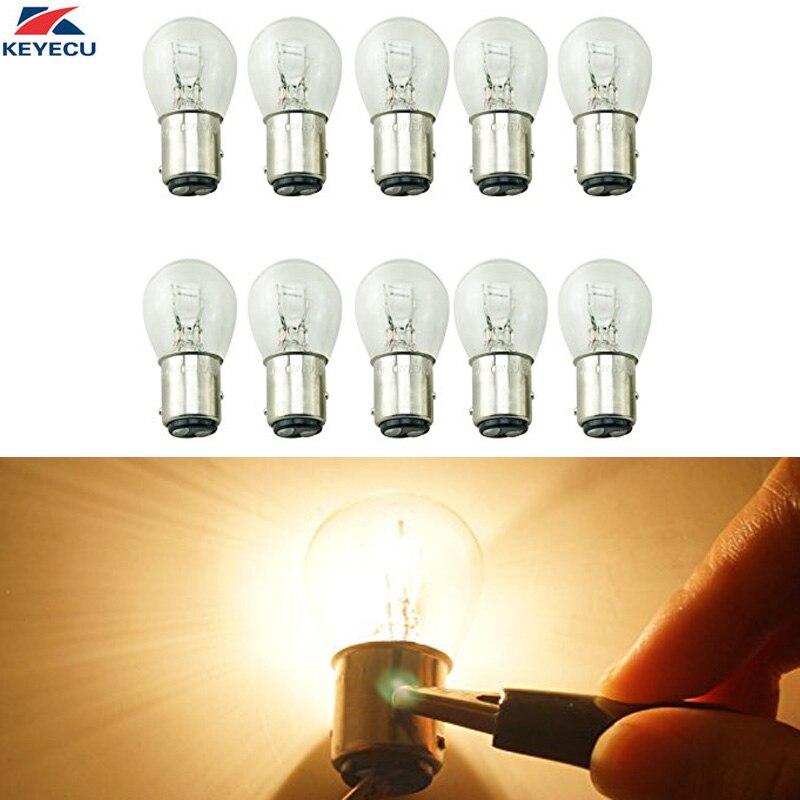 100% Waar Keyecu 10 Stuks 1157 Bay15d S25 12 V 21/5 W Auto Vervanging Lamp Dubbele Contact Brake Remlicht Met Dual Filament