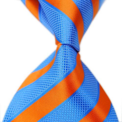 2015 Brand New Blue Curacao grande listrado de seda magro dos homens de negócios Casual vestido Gravata Corbatas Hombre Cravate laços para homens