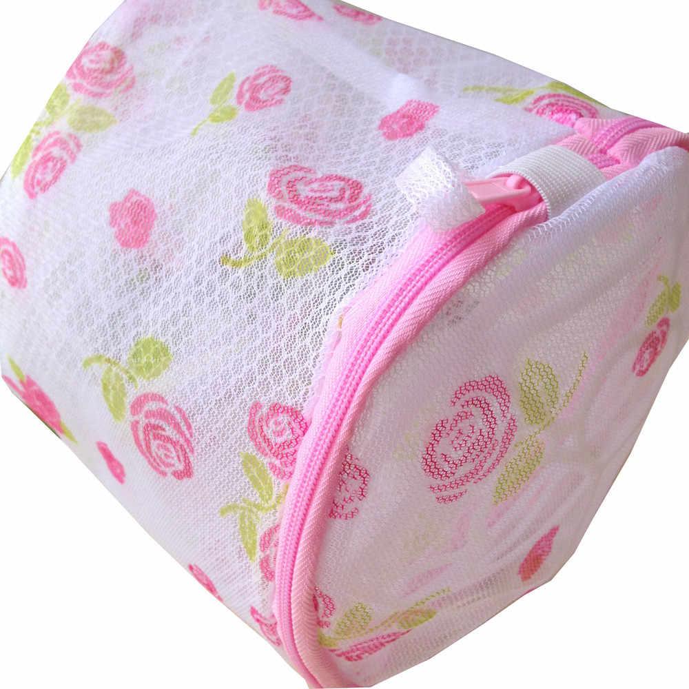Underwear Aid Sock Women Bra Underwear Products Lingerie Washing Hosiery Useful Mesh Net Bra Wash Bag zipper Laundry Bag D40JL21