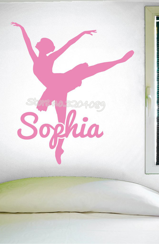 Home Decor 2019 New Style Personalized Dance Custom Name Wall Decal Girls Dance Ballet Silhouette Sticker For Living Room Bedroom Dance Room Poster Ea624 Bracing Up The Whole System And Strengthening It Home & Garden