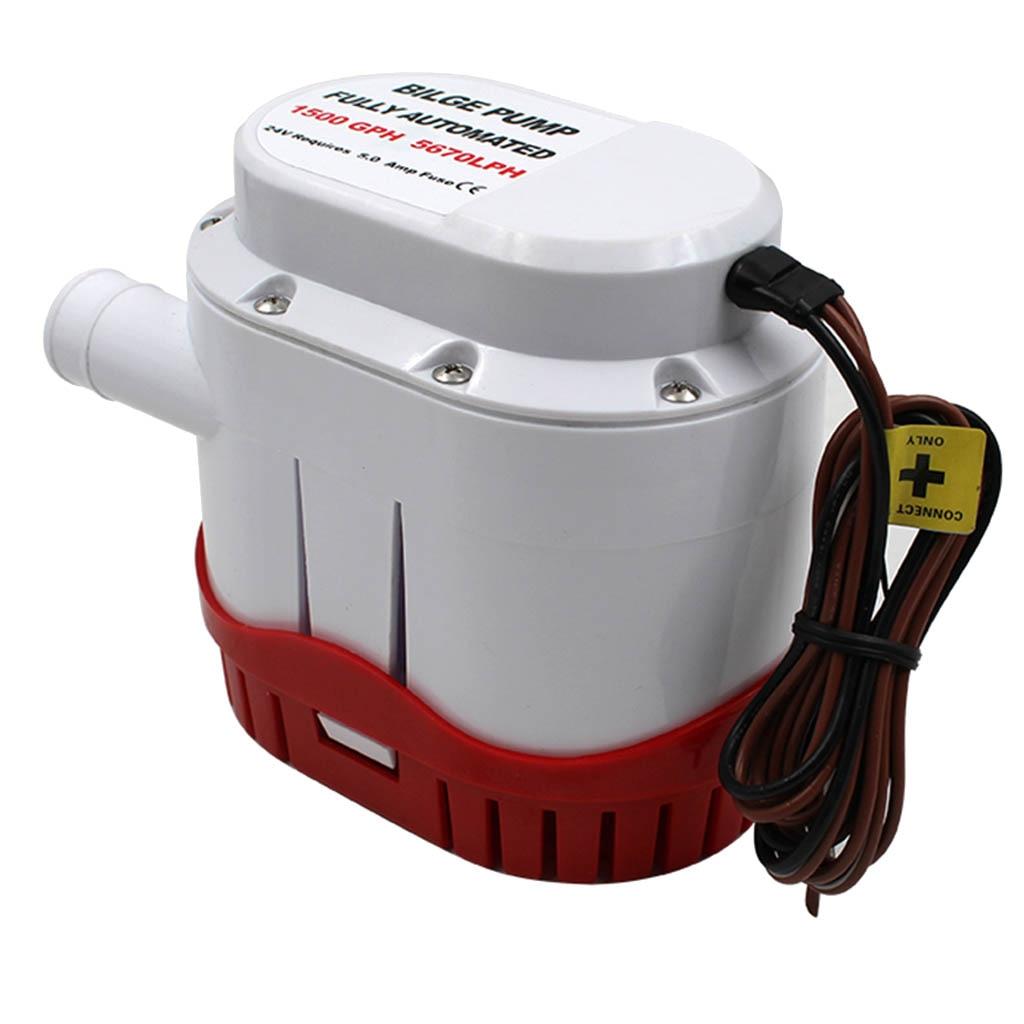 Pompe à eau de cale automatique 12 V 1500GPH pour pompe automatique Submersible avec interrupteur à flotteur