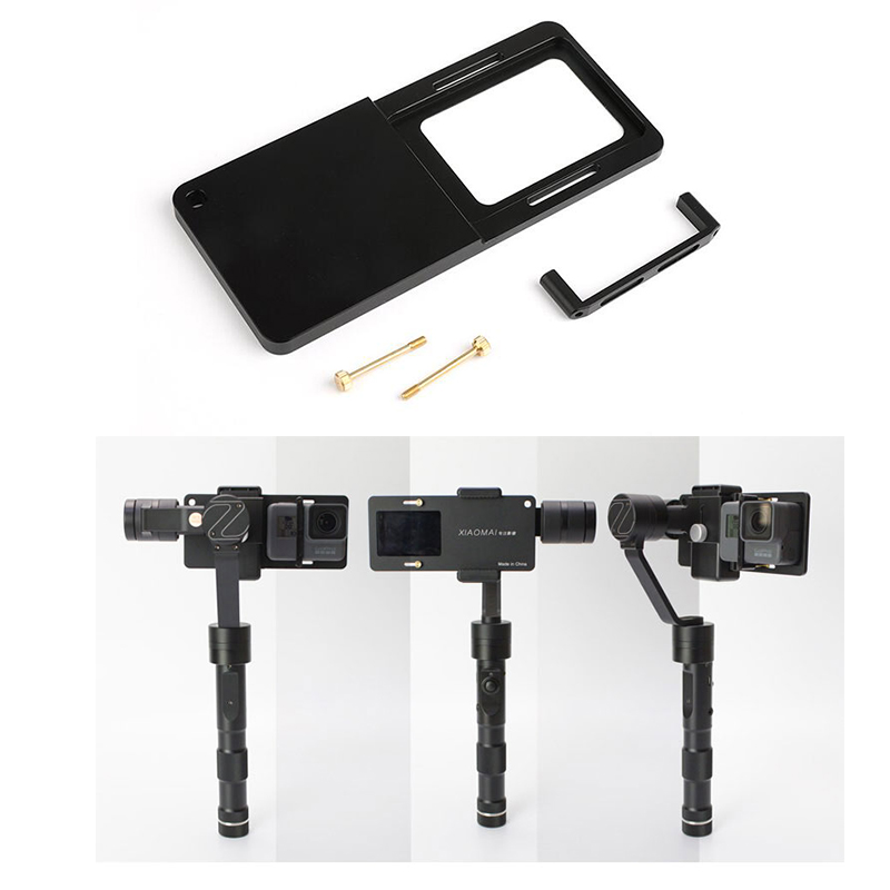 Adapter for GoPro Hero 5/4/3/3+ Xiaoyi 4K Switch Mount Plate DJI osmo Mobile Zhiyun Smooth Q C 4 R Smartphone Gimbal Accessories