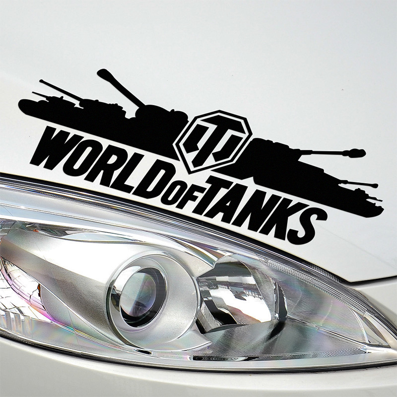 10 Pieces Customization WORLD OF TANKS Stickers Decal Car-Styling For vw audi ford bmw Benz opel Nissan SEAT car accessories