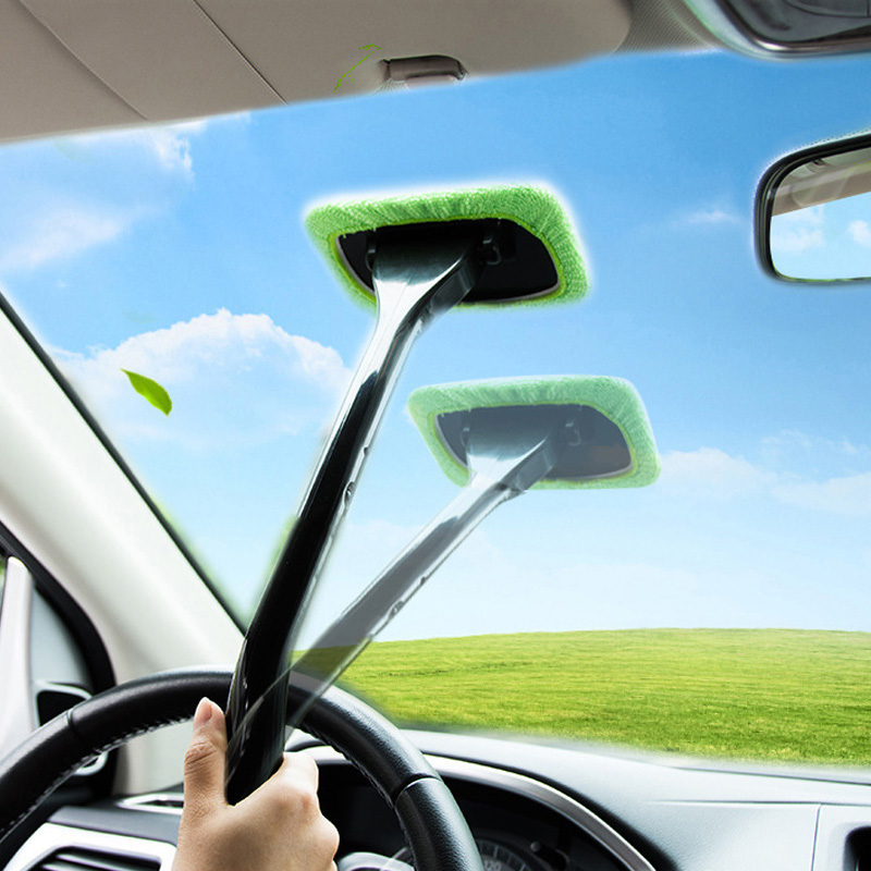 Car Dual-Use Dust Removal Defogging Glass Brush Front Glass Mop Car Window Cleaning Products YU-Home image