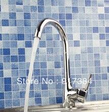Одной ручкой Кухня раковина и бассейна полированный хром смеситель кран JN92309