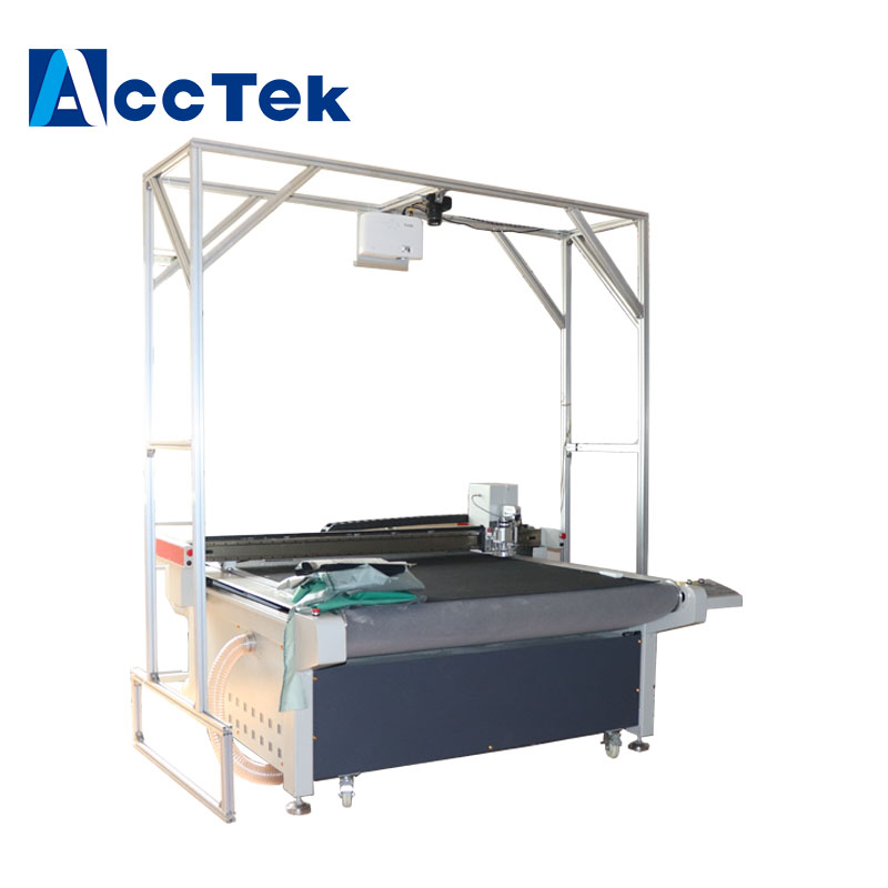 After Sale Service Provided CNC Oscillating Knife Leather Carton Foam Cutting Machine Ccd Camera , Project