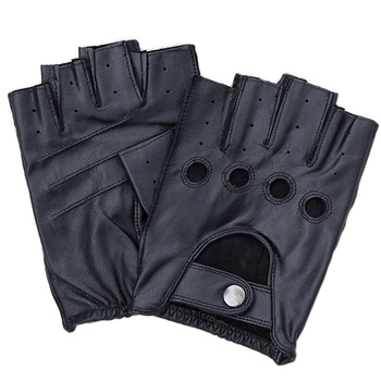 Factory Direct Genuine Leather Half-Finger Gloves Driving Male Spring And Autumn Sheepskin Gloves Tactical Non-Slip Gloves F124 brand genuine leather gloves women spring autumn thin fashion trend sheepskin gloves finger driving glove l093nn 5