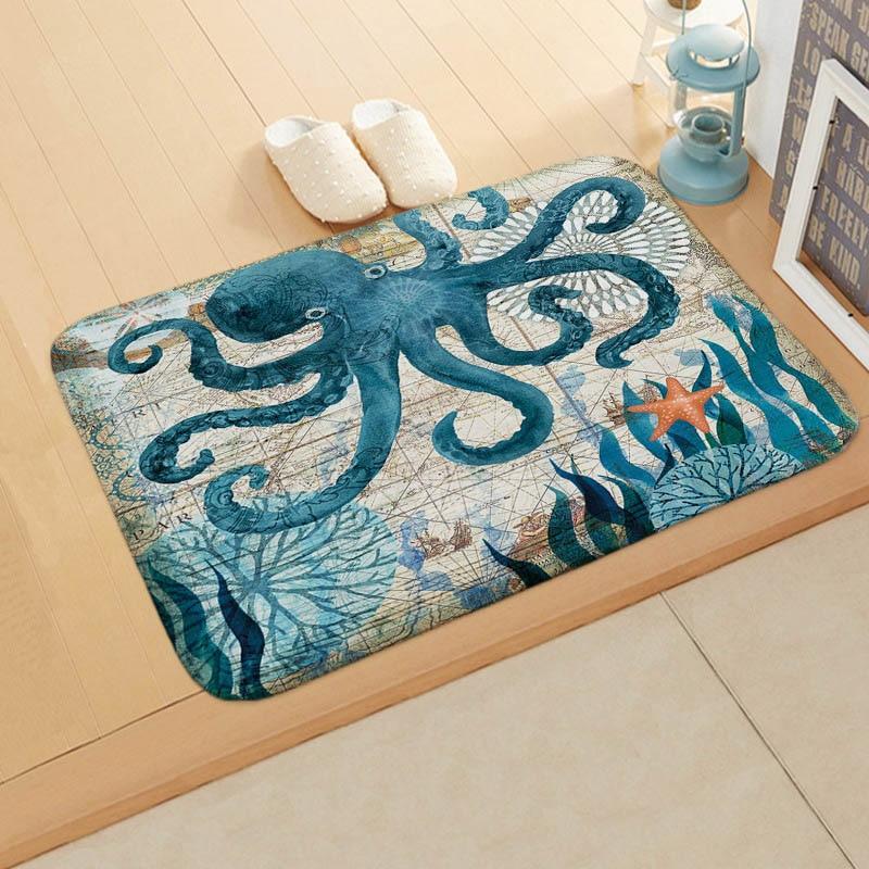 Cute killer whale Home Bathroom Non-Slip  Floor Indoor Door Mat Kids Bath Mat