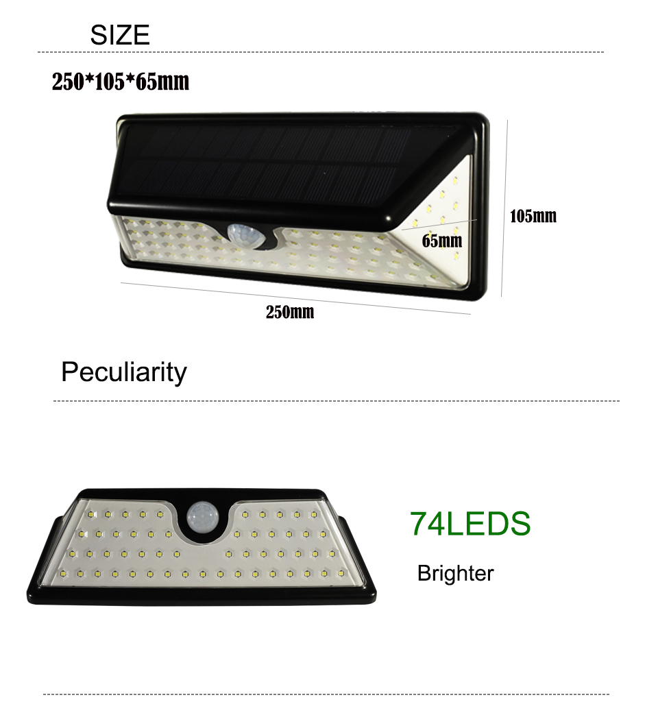 led solar outdoor light