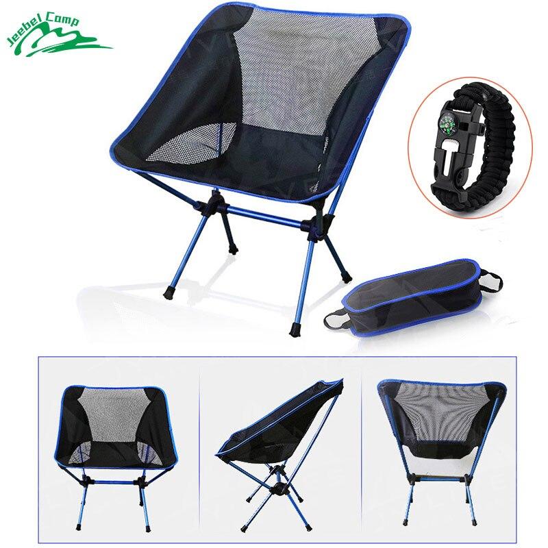 Jeebel Pliant Chaises De Camping En Plein Air Camp De la Plage Chaise de Pique Nique De Pêche Siège Lune Jardin Plage Pliable Stoel En Plein Air Meubles dans Chaises de plage de Meubles