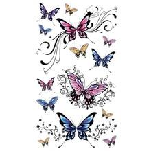 Fashion Beautiful Butterfly Sticker Temporary Waterproof tatoo body art fake tatuaje 2017 lowest price hot sale Anne