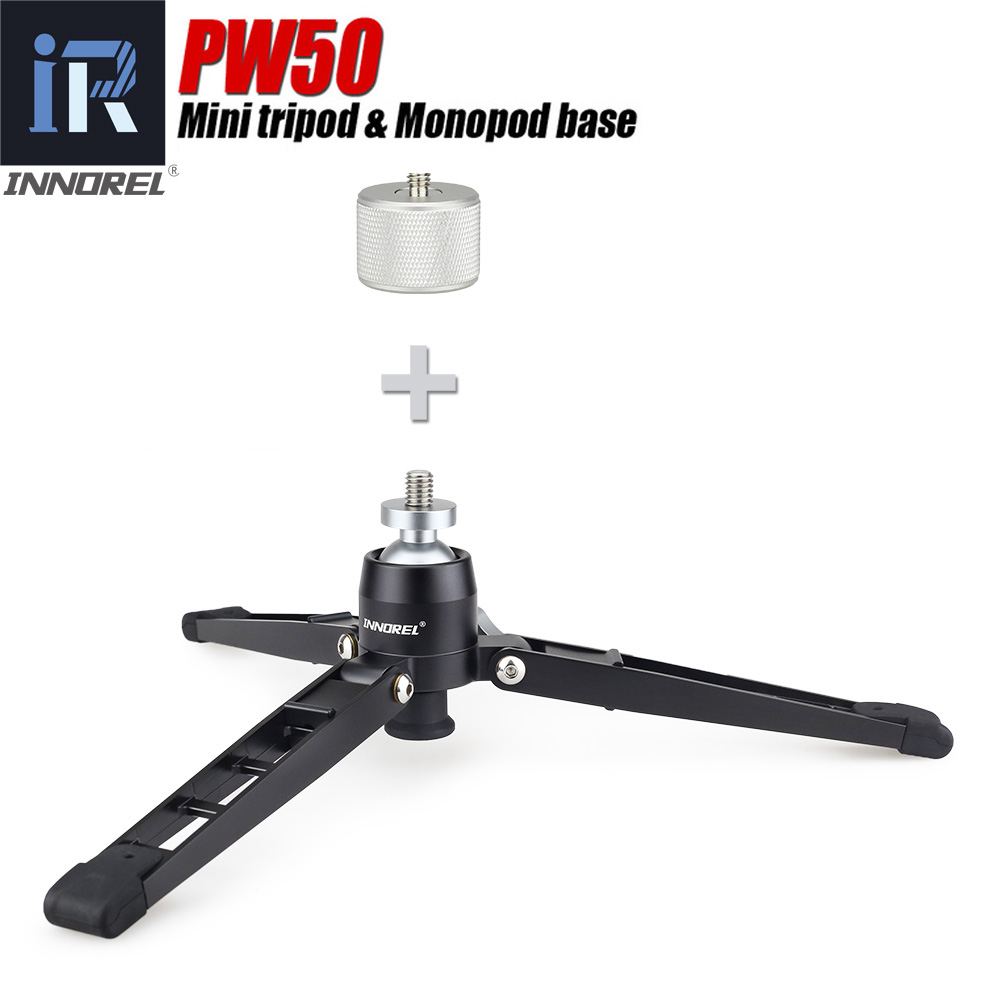 Mini Camera tripod Support for video monopod All metal stand base desktop table tripod with ball