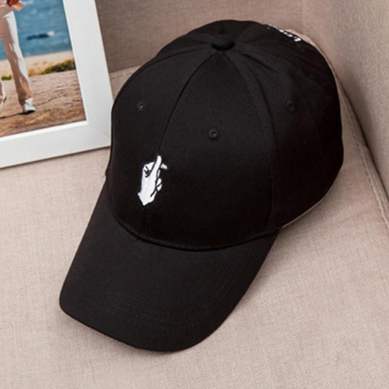 2018 de moda hombres mujeres niños amor a dedo gorra de béisbol ajustable  Strapback sombreros de f6fa862365e