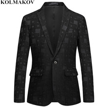 NEW Brand Printed Black Blazers mens 2018 Suits Jackets Coats Homme Top Designed men's Blazer Masculino Skinny Large size M-6XL