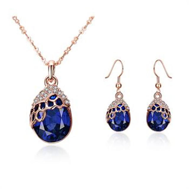 Aliexpresscom Buy Fashion Rose Gold Filled Jewelry Sets For