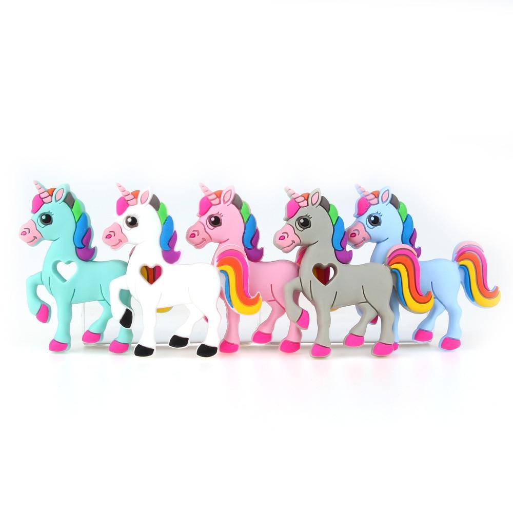 TYRY.HU Mordedor de unicornio de silicona 1Pc Mordedores de bebé de - Cuidando a un niño - foto 3