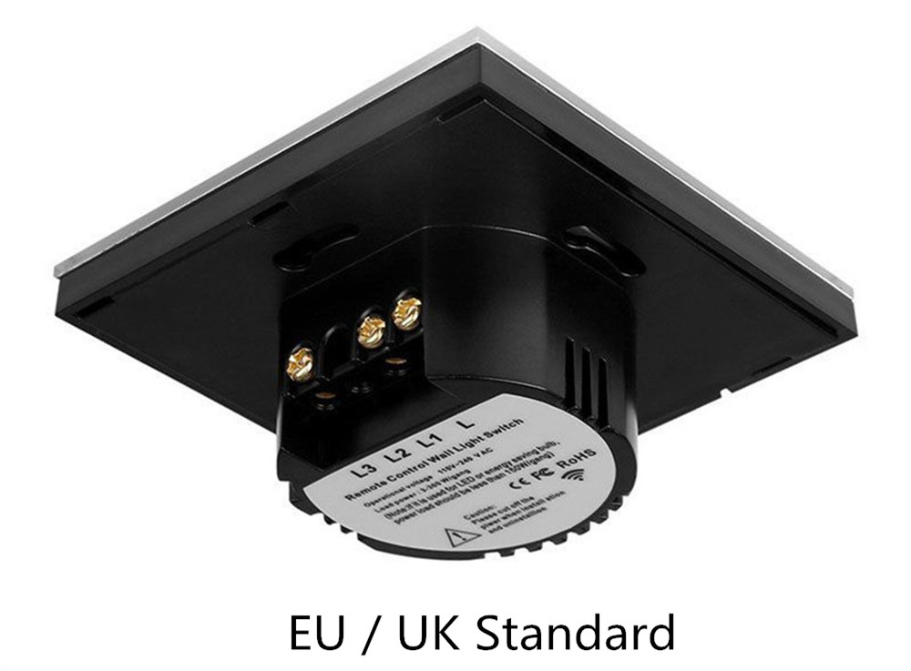 Elite Kilter EU/UK Standard 2 Gang 2 Ways Touch Switch Single FireWire With Big Controller