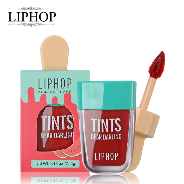 LIPHOP ICE CREAM Long-Lasting Lip Tint 5 Colors Liquid Lipstick Batom Rouge A Levres Labial Matte Lip Gloss Sexy Tattoo Cosmetic 1