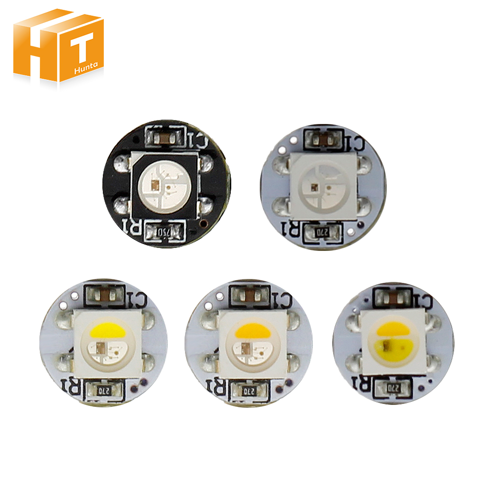 5~100Pcs Board Heatsink WS2812B / SK6812 LED Chips With Black/White PCB (10mm*3mm) WS2811 IC Built-in 5050 SMD RGB DC5V