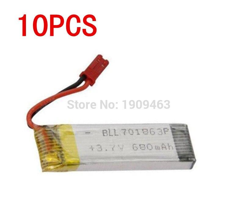 10 шт. UDI U817A U818A U818 V959 V929 V222 S032 h07n h07nc h07nl grc <font><b>Quadricopter</b></font> запасных Запчасти Батарея (3.7 В 680 мАч) бесплатная доставка
