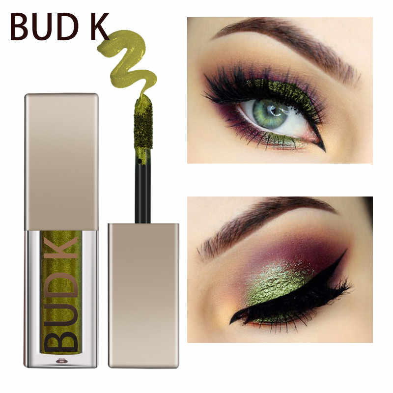 Bud K Cair Merek Eye Shadow Makeup Glitter Shadow Metalik Glow Eyeshadow Shimmer Eye Stick Mata Kecantikan Kosmetik Wanita