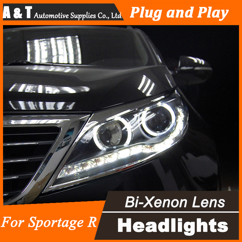 Car Styling for Kia Sorento Headlight assembly Sorento LED Headlight DRL Lens Double Beam H7 with hid kit 2 pcs. car styling headlight assembly 2003 2009 for benz w211 doubleu angel eye led drl lens double beam h7 with hid kit 2 pcs
