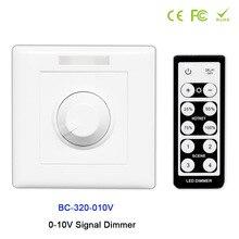 BC-320-010V led Knob style 0-10V Signal Dimmer Controller+IR remote use for strip light,DC12V-24V