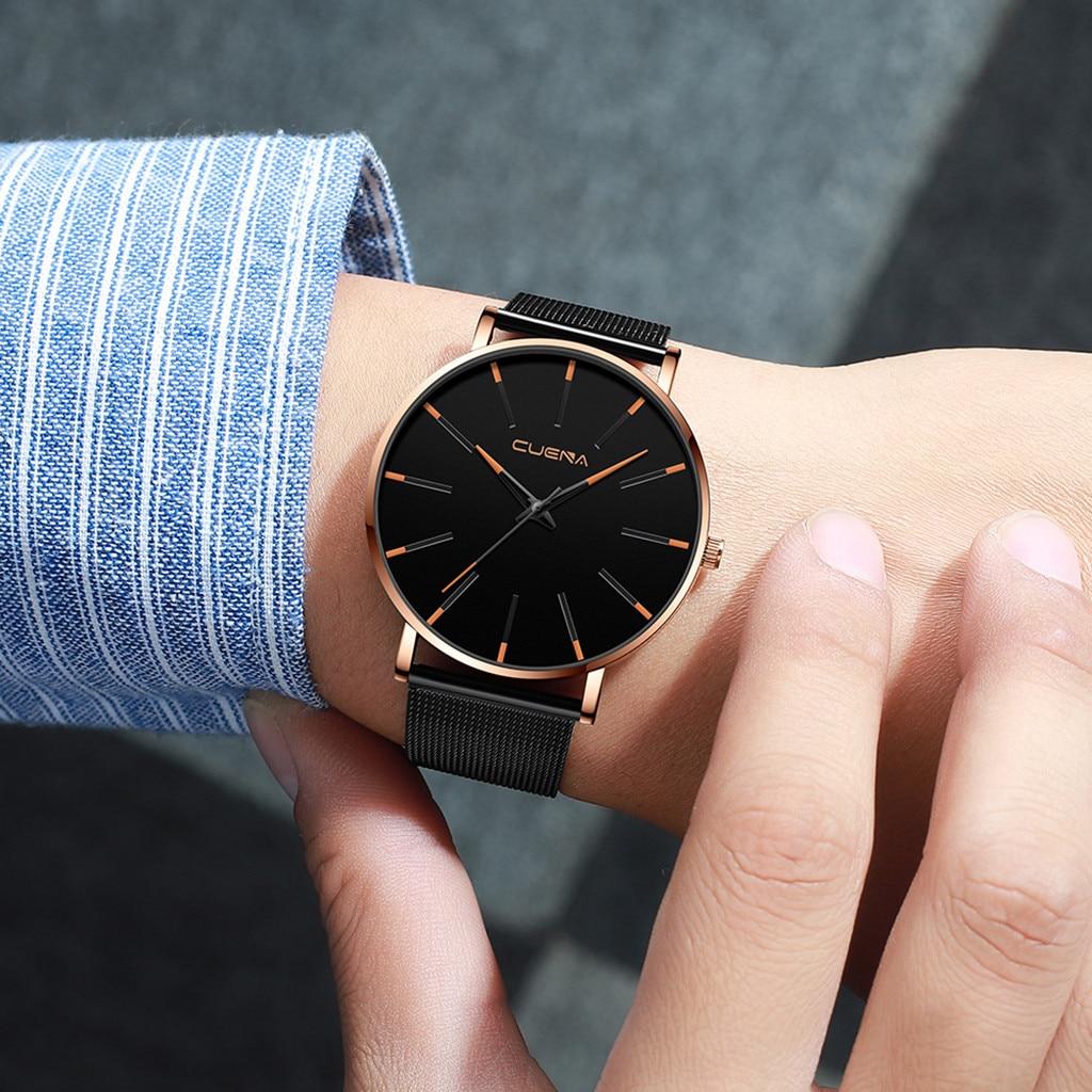 Fashion Luxury Men Wristwatches Watches Quartz Watch Stainless Steel Dial Casual Bracele Watch  Thanksgiving Gift