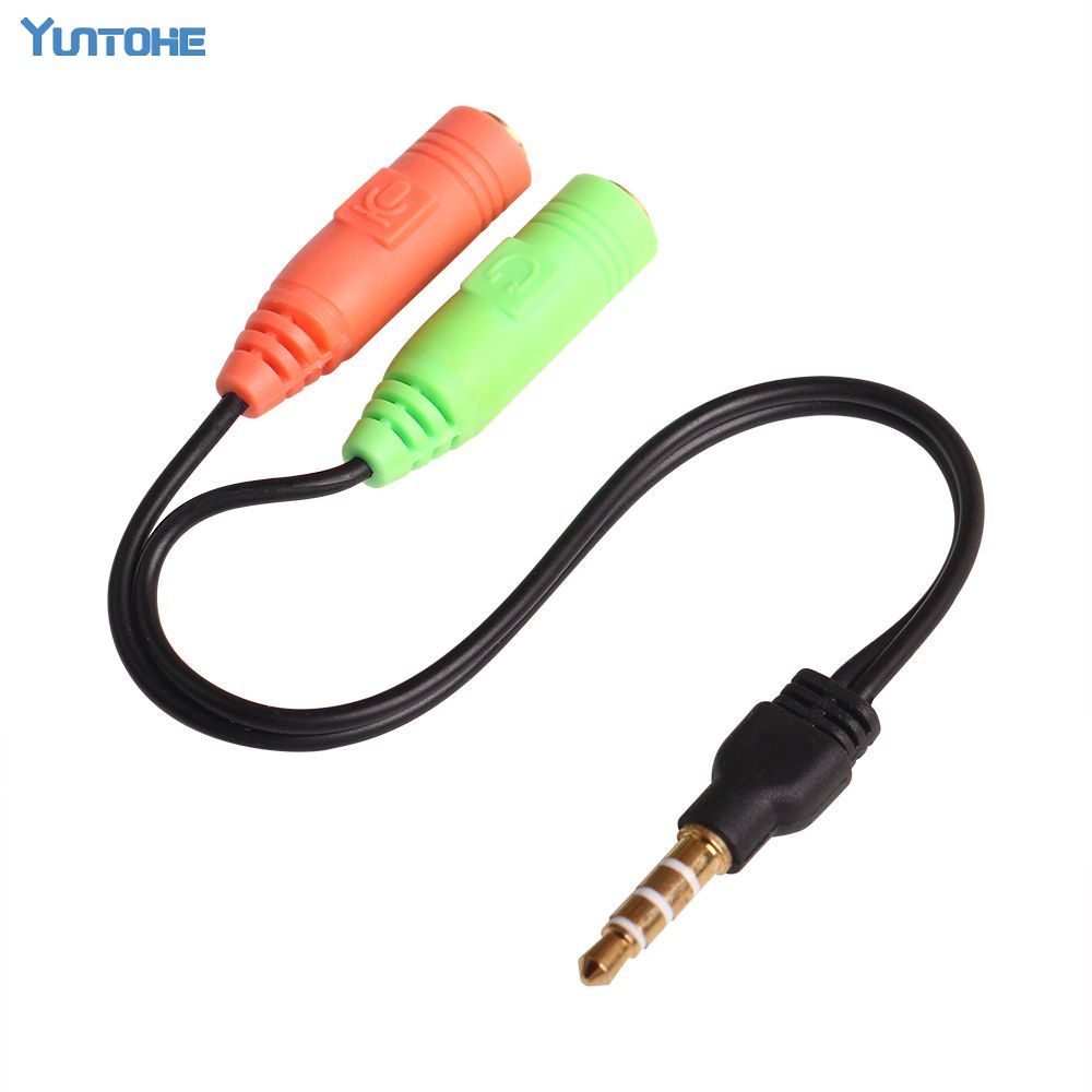 3.5mm Stereo Male to Dual Female Aux Audio Extension Splitter Y Cable Cord lot