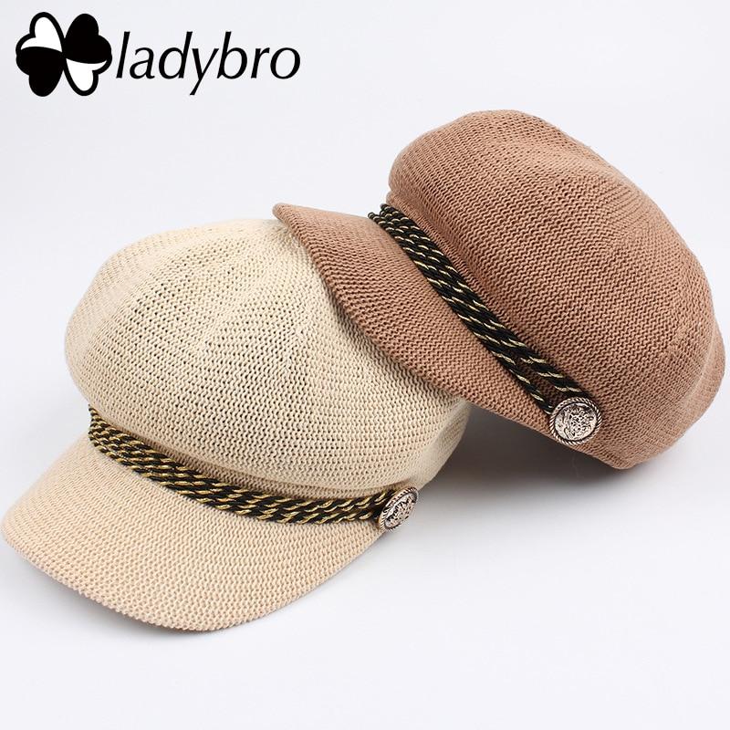 Ladybro pavasara vasaras cepure sievietes saules cepures beretes - Apģērba piederumi