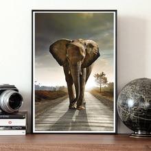 Художественный Декор, живопись, холст, животные, картины, плакат, стены, слоны на лугу, принт, плакаты, гостиная, задний план, домашний декор