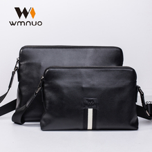 Wmnuo Brand Men Handbag High Quality Shoulder Bag Genuine Leather Crossbody 2018 New Fashion Soft Cowhide Messenger