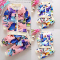 2016 New Flower Baby Girls Toddler Butterfly Shirt Cardigan+Pants 2PCS Oufits Clothes Set Tracksuit For Baby Kids Girls Clothes