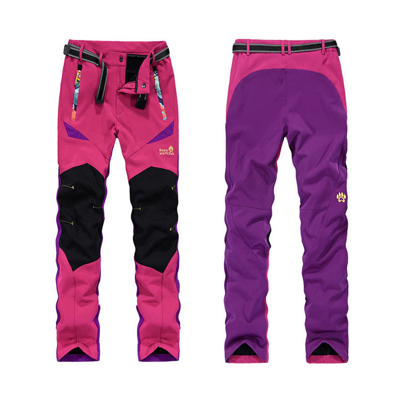 AOFEITE Hiking Pants Women Windstopper Thermal Softshell Pants Women Breathable Waterproof Climbing Pants Women Outdoor Pants