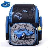 Delune России школьные сумки для мальчиков автомобиля сверхлегкий ортопедические детские школьные Водонепроницаемый Рюкзак Ранец детский шк