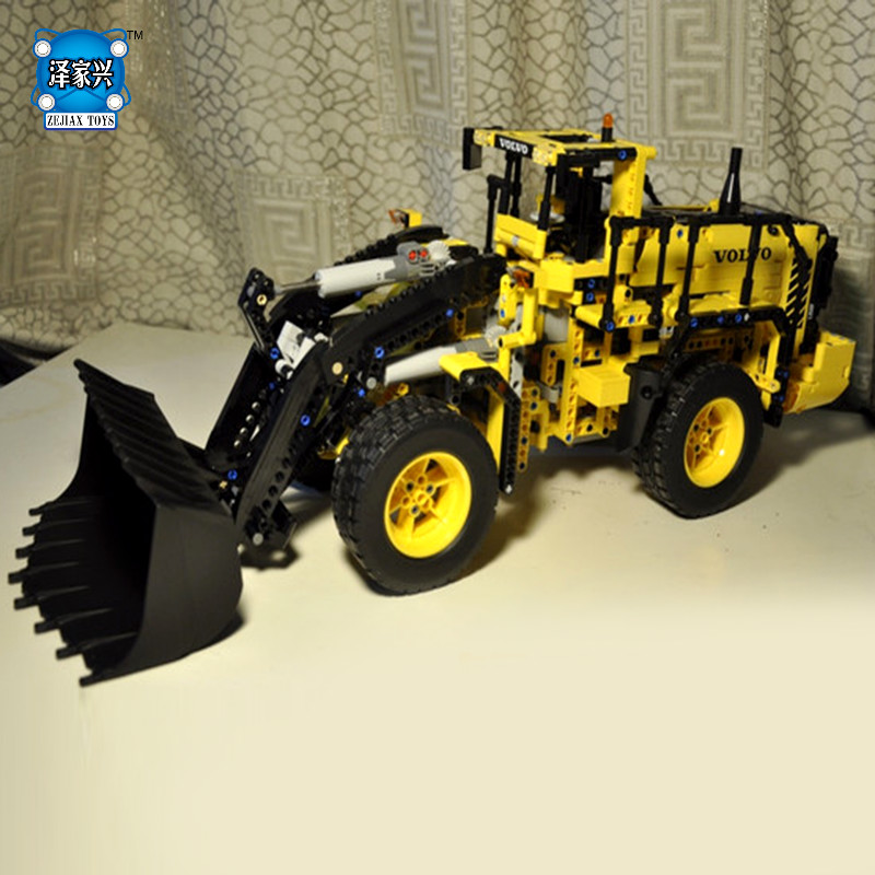 Technic Series V L350F Wheel Loader Building Bricks Blocks Toys Compatible with Lepins for Children Boys Game Model Car Gift lepin 21003 series city car beetle model building blocks blue technic children lepins toys gift clone 10252