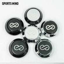 ENKEI – capuchon de moyeu de roue de voiture 64MM, autocollant Logo emblème, 4 pièces/lot