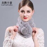 กระต่ายผมผ้าพันคอสามหลอดหญิงผ้าพันคอ