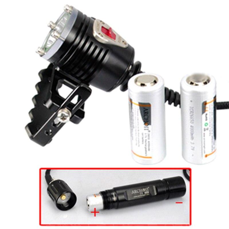 ARCHON D35VP II 4200lm plongée photographie lumière plongée éclairage lampe 18650 Li ion batter plongée lumières vidéo lumière + rouge + UV + Spot lampe - 4