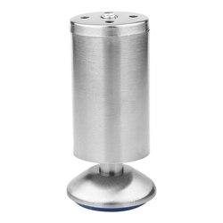 TOP! 4 sztuk z regulacją wysokości ze stali nierdzewnej srebrny meble stół kanapa z funkcją spania stóp z mata gumowa dla nóżki do szafki (50X120 Mm) w Nogi meblowe od Meble na