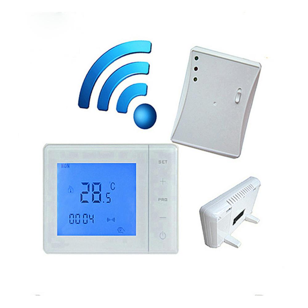 Wireless Thermostat Gas Boiler RF Control 5A Wall-Hung Boiler Heating Thermostat Digital LCD Temperature Controller 433MHZ