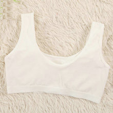 4pcs/lot Cotton Bras For Kids Teen Young Girls Training Underwear Small Wireless Thin Cup Child Puberty Bra Teenages Clothes