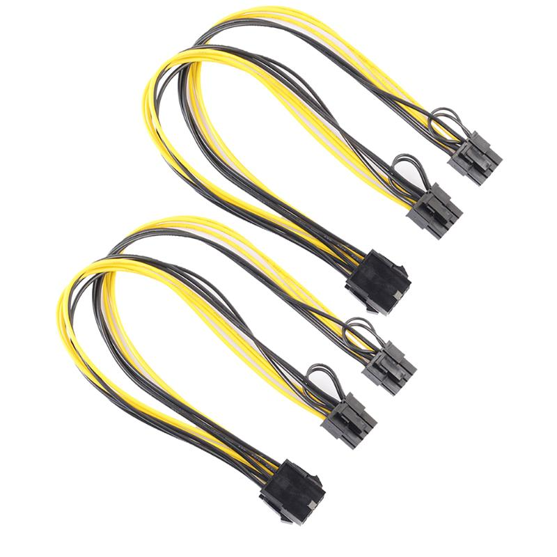 GPU 8pin Female to dual PCI-E PCI Express 8p ( 6+2 pin ) Male power cable 18AWG wire for graphics video card BTC Miner 30cm pci e pcie pci express 6pin male to dual double 2 port 6pin male adapter gpu video card power cable 18awg f21516