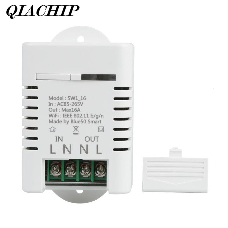 все цены на QIACHIP WiFi Smart Home Switch Work with Amazon Alexa Google Home Timing Schedules Smart Scene 16A 3520W APP Remote Control DS35